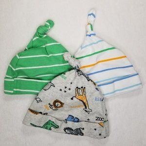 5/$25 The Children's Place Baby Boy Top Knot Hats